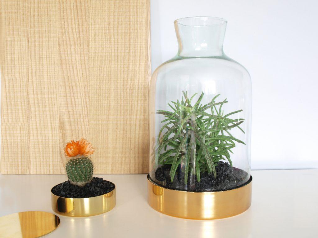 Pokrywa Szklana Chimney S - Z Metalową Podstawą W Kolorze Złotym
