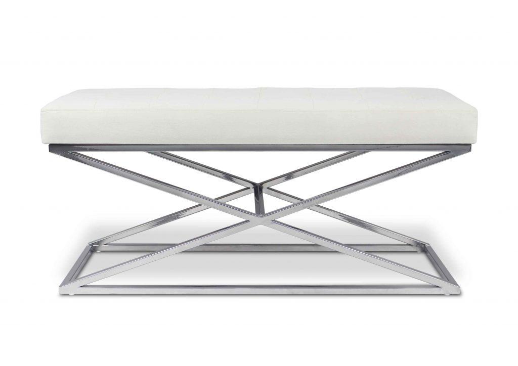 Designerskie Meble - Ławka Venus wykonan z metalu i wysokiej klasy tkaniny